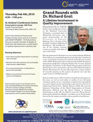 Grand Rounds with Dr. Richard Grol (Poster)